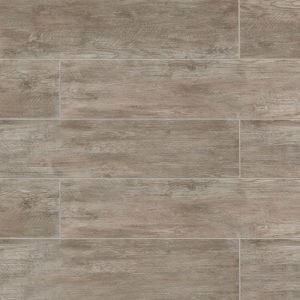 """River Wood 8""""x36"""" Floor & Wall Tile in Taupe"""