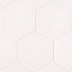 """Uni 8""""x8"""" Floor & Wall Tile in White"""