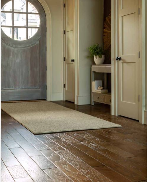 Rug in entryway